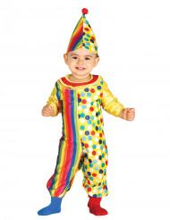 Kleurrijk clown kostuum voor baby