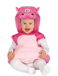 Roze nijlpaard kostuum voor baby's