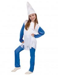 Kleine blauwe kabouter kostuum voor meisjes