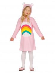 Roze fantasy regenboog kostuum voor meisjes