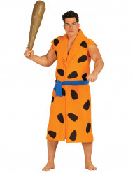 Oranje holbewoner kostuum voor volwassenen