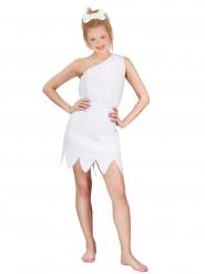 Wit oervrouw kostuum voor volwassenen