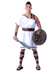 Witte spartaan kostuum voor mannen