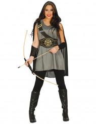Grijs boogschutter kostuum voor vrouwen