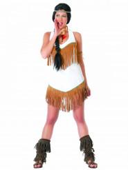 Wit met bruin indiaan kostuum voor vrouwen