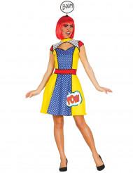 Comic Chica pop art kostuum voor dames