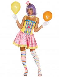 Pastel clownskostuum voor vrouwen