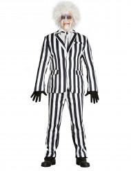 Zwart wit gestreept kostuum pak voor mannen