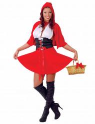 Sexy roodkapje kostuum met cape voor vrouwen