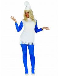 Blauwe dwerg kostuum voor vrouwen