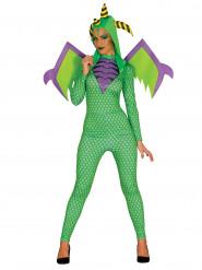 Groen drakenkostuum voor vrouwen