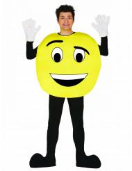 Personaliseerbaar emoticon kostuum voor volwassenen