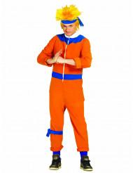 Oranje ninja meester kostuum voor volwassenen