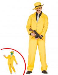 Geel gangster kostuum voor volwassenen