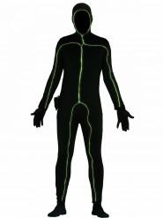 Zwart lichtgevend kostuum voor mannen