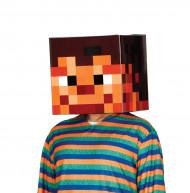 Pixel helm van karton voor volwassenen