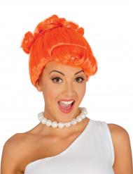 Oranje holbewoner pruik voor vrouwen