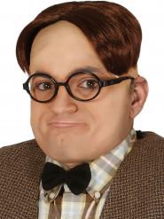 Bruine nerd haarclip voor volwassenen