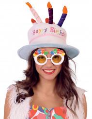 Happy Birthday bril voor volwassenen