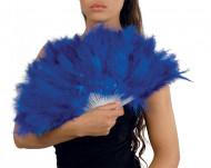 Waaier met blauwe veren