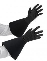 Zwarte halflange handschoenen voor volwassenen