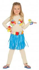 Blauwe Hawaiiaanse set voor kinderen