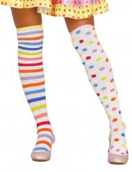 Pastelkleurige kousen voor vrouwen