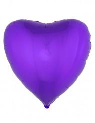 Paarse hart folie ballon 45 cm