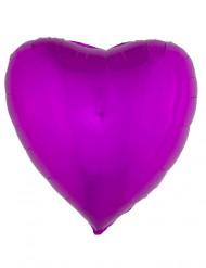 Fuchsia hart ballon 45 cm