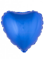 Blauwe hart ballon 45 cm