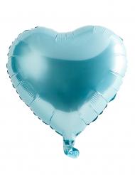 Licht blauwe hart ballon 46 cm