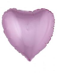 Roze hart aluminium ballon 45 cm