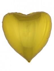 Goudkleurige hart ballon 76 cm