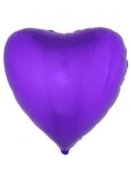Paarse hart ballon 76 cm