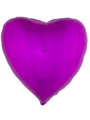 Donker roze hart ballon 76 cm