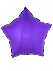 Paarse ster folie ballon 45 cm