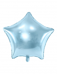 Turquoise ster folie ballon 45 cm