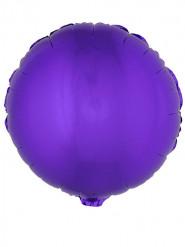 Ronde paarse folie ballon 45 cm