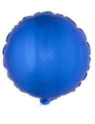 Ronde blauwe folie ballon 45 cm