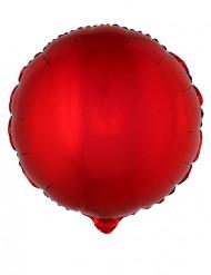 Ronde rode folie ballon 45 cm