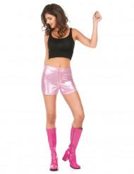 Roze disco short voor dames