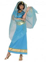 Blauw prinsessenkostuum voor vrouwen