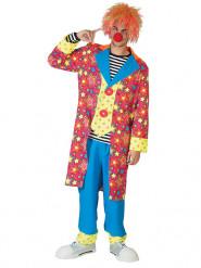 Veelkleurig clownskostuum voor mannen