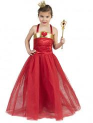 Rode hartenprinses kostuum voor meisjes