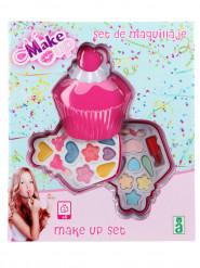 Roze cupcake make-up set