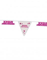 Joyeux anniversaire roze vlaggenlijn
