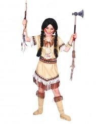 Indianenkostuum met franjes voor meisjes