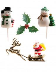 6 kerst taartdecoraties