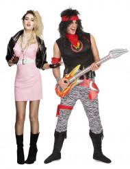 Retro rocker koppelkostuum voor volwassenen