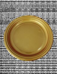 50 goudkleurige plastic bordjes